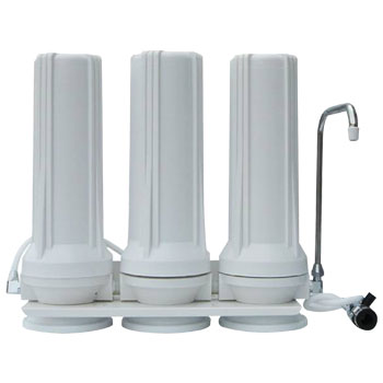Triple stage countertop water filter delivered in Pretoria, Centurion, and Midrand