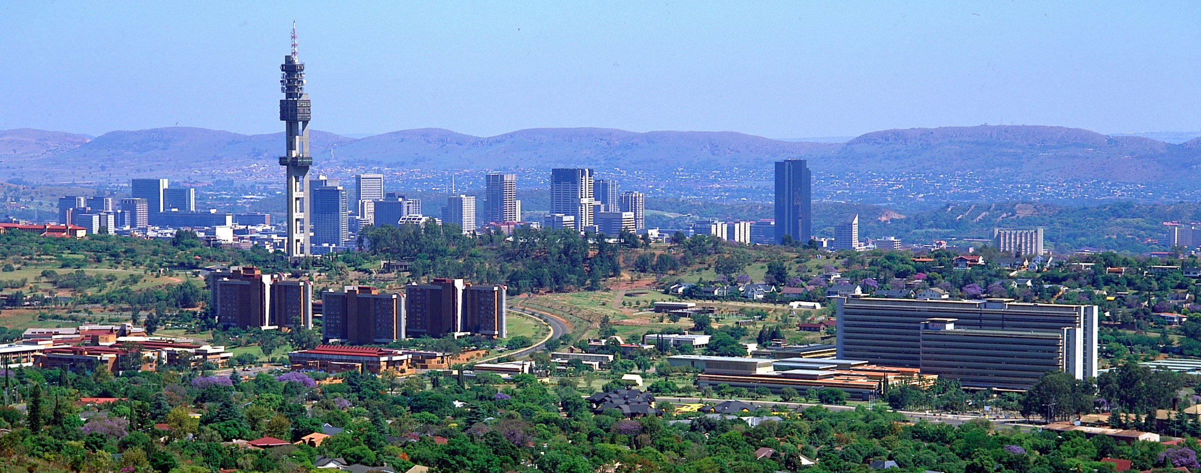 Panorama picture of our service area as plumbers in Pretoria